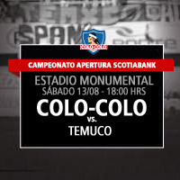 Colo-Colo vs. Temuco Estadio Monumental - Macul