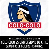 Colo-Colo vs. U. de Chile Estadio Monumental - Macul