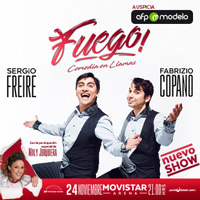 Fuego, una comedia en llamas Movistar Arena - Santiago