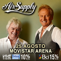 Air Supply Movistar Arena - Santiago