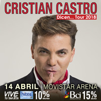Cristian Castro Movistar Arena - Santiago