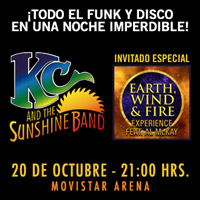 "KC & The Sunshine Band ""Los 70 y 80 Forever"" Movistar Arena - Santiago"
