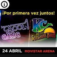 KC & The Sunshine Band + Kool & The Gang | Movistar Arena | 24 de abril 2020