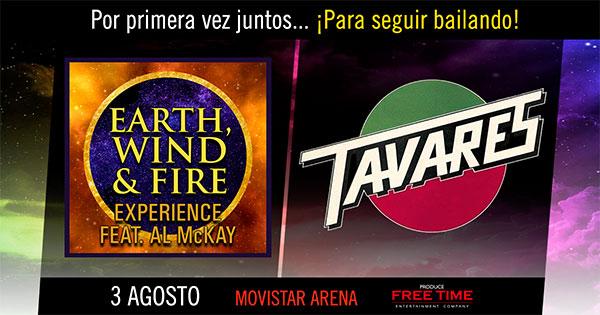 Resultado de imagen para earth, wind & fire experience + tavares en chile