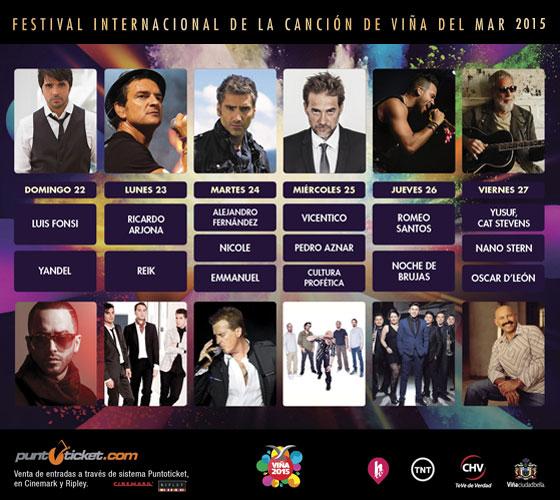 Parrilla Festival de Viña del Mar 2015