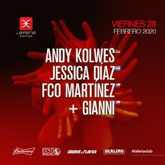 28 de febrero 2020 - Andy Kolwes, Jessica Días, Fco Martinez y Gianni