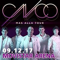 CNCO Movistar Arena - Santiago