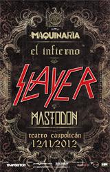 Slayer + Mastodon Teatro Caupolicán - Santiago