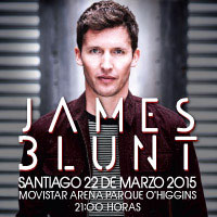 James Blunt Movistar Arena - Santiago