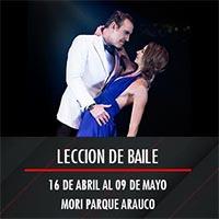 Leccion de baile Mori Parque Arauco - Las Condes