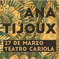 Anita Tijoux Teatro Cariola - Santiago