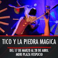 Tico y la piedra magica Teatro Mori Plaza Vespucio - La Florida