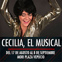 Cecilia, El musical Mori Plaza Vespucio - La Florida
