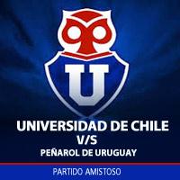 Universidad de Chile vs Peñarol de Uruguay Estadio Nacional - Santiago