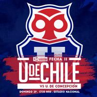 Universidad de Chile vs U. de Concepción Estadio Nacional - Santiago
