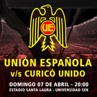 Unión Española  vs Curicó Unido Estadio Santa Laura - Universidad SEK - Santiago