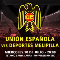 Unión Española vs. Deportes Melipilla Estadio Santa Laura - Universidad SEK - Santiago