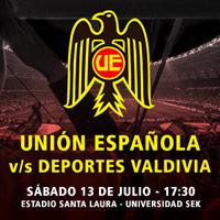 Unión Española  vs Deportes Valdivia Estadio Santa Laura - Universidad SEK - Santiago