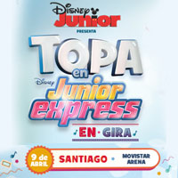 Topa en Junior Express Movistar Arena - Santiago