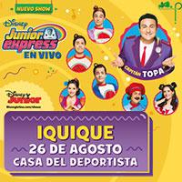 Nuevo show Capitán Topa - Disney Junior Express en Vivo Casa del Deportista, Iquique - Iquique